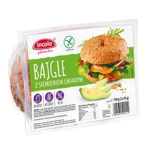 YULKA | BAGEL mit Leinsamen 190g (2x95g) | Glutenfrei, ohne Laktose, Sojafrei