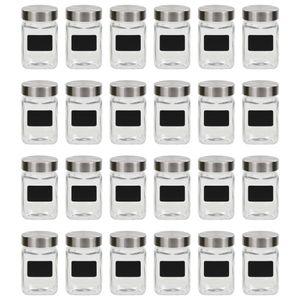 vidaXL Vorratsgläser mit Aufkleber 24 Stk. 300 ml