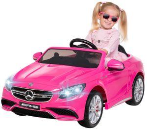Kinder Elektro Mercedes Benz AMG S63 Kinderauto Kinderfahrzeug Elektroauto (Pink)