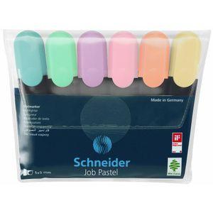 Schneider Textmarker Job Pastell 6er Etui