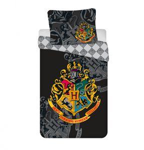 Harry Potter Bettwäsche-Set, Bettbezug für 140 x 200cm, Kopfkissenbezug Baumwolle
