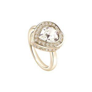 Guess Damen Ring Edelstahl gold UBR28508, Ringgröße:54 (17.2 mm Ø)