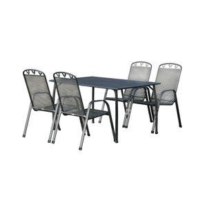 Greemotion Toulouse Terrassen Gartenmöbelset 5 teilig Tisch 140x90 cm + 4 Stühle