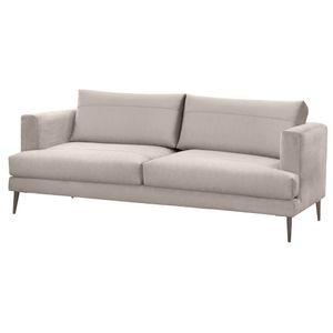 Selsey Sofa DRAGATO 2-Sitzer mit Stoffbezug in Hellbeige, abnehmbaren Rückenkissen und Metallfüßen, 184 cm breit