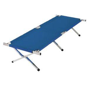Kronenburg XXL Feldbett 210x72x45 cm - 200 kg belastbar - blau