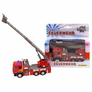 Kids Globe Feuerwehr Ladderwagen met Licht + Geluid.