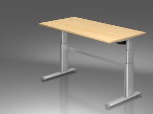 XD-Serie Schreibtisch, elektrische Höhenverstellung, Ahorn, Größe Tischplatte:160 x 80 cm