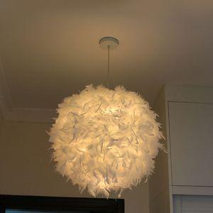 Federn Deckenlampe Pendelleuchte Schirm Lampe Lichter Hängeleuchte Feder Lampe Moderne Weiß Lichter Hängeleuchte Schlafzimmer/Ess Zimmer Decken