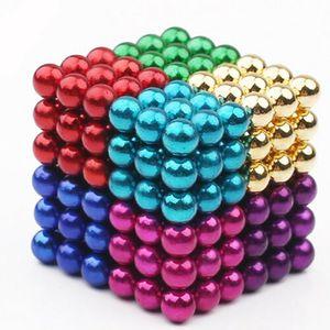 216 Magnetkugeln Set (Bunt / Silber) 5mm Magnet Kugeln Anti Stress Geschenkidee