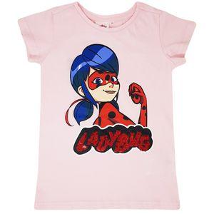Miraculous - Ladybug - Mädchen Pailletten T-Shirt, Wende-Pailletten Shirt für Kinder, Lady Bug Kleidung Mädchen, Größe:128