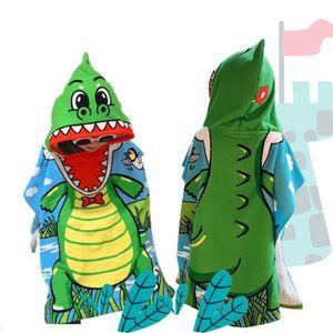 Kapuzenhandtuch Baby Handtuch Kapuze Badetuch für Babybaden Babyhandtuch mit Kapuze Kapuzenbadetuch 60 X 120cm (Krokodil)