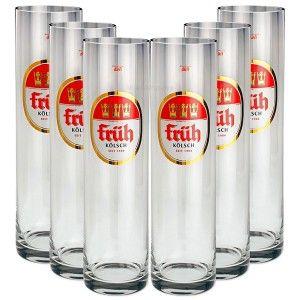 Früh Kölsch Biergläser / Gläser / Stangen Set - 6x 0,2l