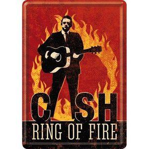 Nostalgic-Art - Mini-Blechschild Blechpostkarte 10x14cm - Johnny Cash Ring