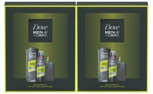 Dove Men+Care 2x Geschenkset Duschgel Deospray Deodorant Körperpflegeset Deo