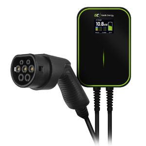 Green Cell® GC Wallbox Ladestation für EV Elektroautos PHEV | 22kW / 11kW / 7,2kW | Kabel Typ 2 6m | 3-Phasig 32A | IP66 | Ladegerät kompatibel mit Tesla Model 3 / S/X/Y, ID.3, i3, ZOE usw.