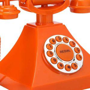 Mllaid Retro Festnetztelefon, hergestellt aus hochwertigem ABS umweltfreundlichem Material, europäisches Retro Festnetztelefon Home Office bevorzugtes Produkt
