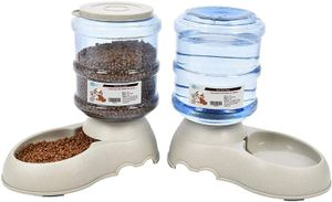 Set Futterspender / Wasserspender / Näpfe für Katze/Hunde  mit Filter jeweils 3.8 L