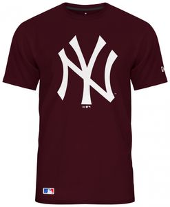 New Era - MLB New York Yankees Team Logo T-Shirt - Weinrot : 4XL Weinrot Farbe: Weinrot Größe: 4XL
