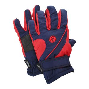 FLOSO Thermo Kinder Skihandschuhe GL490 (9-12 Jahre) (Marineblau / Rot)