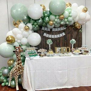 107 STÜCKE Grüner Ballonbogen Set Girlande Ballon Kit Geburtstag Hochzeit Babyparty  Luftballons für Heiratsantrag, Geburtstag, Hochzeit, Taufe, Partydekoration