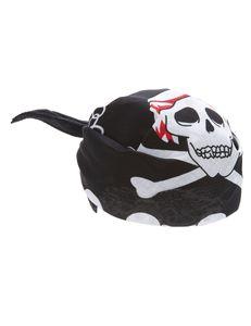 Piraten Kopftuch Seeräuber Bandana schwarz-weiss