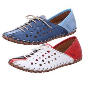 Gemini Damen Schnürschuh Slipper Sneaker Leder 031210-02, Größe:39 EU, Farbe:Blau