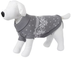 Pullover Lillehammer, Grau/weiß, 30 cm