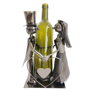 Flaschenhalter Brautpaar aus Eisen