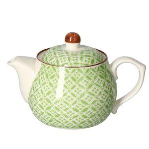 Teekanne + Deckel 500ml Lime Sao Kännchen Teapot Weiß grünes Nachbildung Ritzenhoff