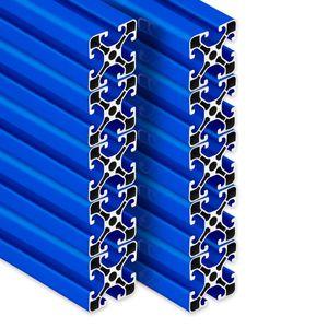 PremiumX 10x 2000mm Aluminium Profil Aluprofil 40x40 mm Nut 8 Strebenprofil Blau