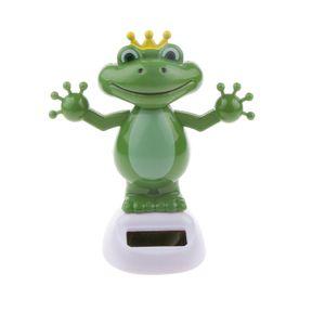 Plastik Frosch Tanzende Solarfigur Wackelfigur Schädel Figur Dekoration, grün