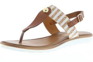 Vista Damen Zehentrenner Sandaletten braun, Größe:38, Farbe:Braun
