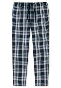 Schiesser Herren lange Schlafanzughose Loungehose Webhose Lang - 163842, Größe Herren:52, Farbe:dunkelblau-gem.