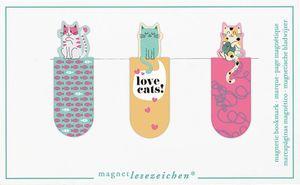 Moses Magnetische Lesezeichen Katzen 3er-Set