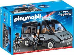 PLAYMOBIL® Polizei-Mannschaftswagen mit Licht und Sound, 6043, City Action, 4-10 Jahre