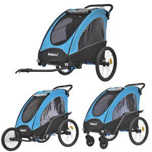 Kinderfahrradanhänger Fahrradanhänger Aluminium  Jogger 3in1 Anhänger Kinderanhänger 333-03