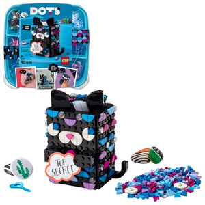 LEGO 41924 DOTS Geheimbox Katze, Raumaccessoires & Dekoideen für den Schreibtisch, DIY - Kreativset für Kinder, Spielset