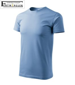 T-Shirt Hellblau XL Herrenshirt Furtwängler Classic 145g/m² verstärkte Schulterpartie Baumwolle