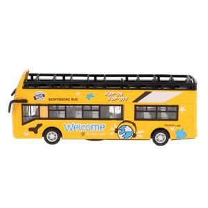 1:32 Diecast Auto Spielzeug zurückziehen Doppeldecker Sightseeing Bus Modell gelb wie beschrieben