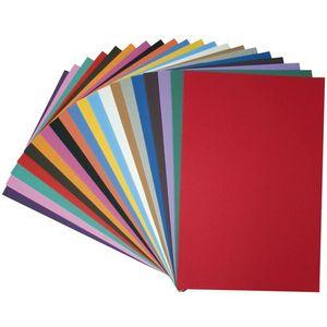 EDUPLAY 200-047 Moosgummi Platten, 20er Set ca. A4 20x30cm, mehrfarbig (1 Set)