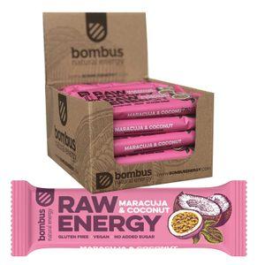 Bombus Fitness Riegel Maracuja & Kokosnuss 20 x 50g Vegan Glutenfrei Ohne Zuckerzusatz