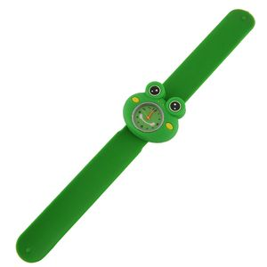 Entzš¹ckende Cartoon Unisex Quarz Sport Gummi Kinder Armband Armband Uhr Frosch Muster
