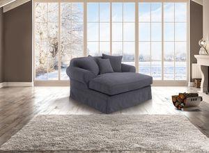Max Winzer Hermine Longchair inkl. Zierkissen - Farbe: anthrazit - Maße: 152 cm x 163 cm x 93 cm; 30381-6299-2051714-KUN