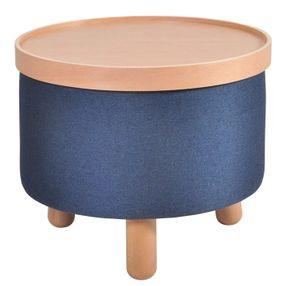 Couchtisch Beistelltisch Sitz Fuß Hocker Molde Tablett abnehmbar Blau 50cm