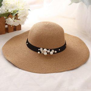 Sommer-Strand-Hat-Dame Sonnenschirm Jazz Panama-Hut im Freien -(4,54-60cm)
