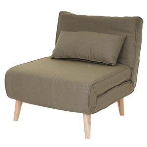 Schlafsessel MCW-D35, Schlafsofa Funktionssessel Klappsessel Relaxsessel Jugendsessel Sessel, Stoff/Textil  grün