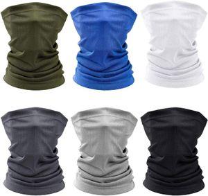6 Stück Bandanas Multifunktionstuch Schal - Elastiche Multifunktion Stirnband Gaiter Balaclava Gesichtsmaske Kopfbedeckung UV Residenz für Yoga Laufen Wandern Radfahren Motorradfahren