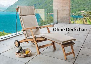 DESTINY Premium Auflage Sand Meliert  für Deckchair / Liegestuhl   - Ohne Deckchair