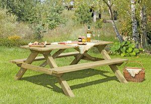 Picknicktisch / Sitzgarnitur Holz massiv 180x170x75cm