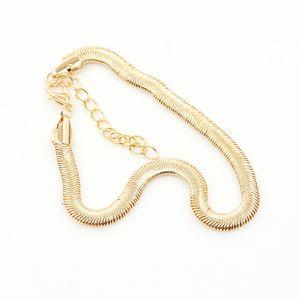 Frauen Fußkettchen Knöchel Armband Fuß Schlangenkette Goldener Schmuck Gold